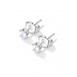 Roestvrijstalen oorstekers met zirkonia 15x4mm