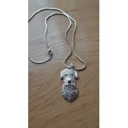 Ierse Wolfshond kop hanger + ketting